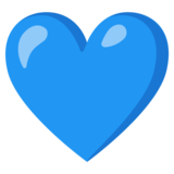 Blue Heart on Google Android 12.0