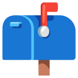 Closed Mailbox with Raised Flag on Google Android 12.0
