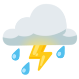 Cloud with Lightning and Rain on Google Android 12.0