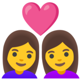 Couple with Heart: Woman, Woman on Google Android 12.0
