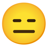 Expressionless Face on Google Android 12.0
