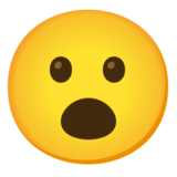 Face with Open Mouth on Google Android 12.0