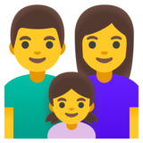 Family: Man, Woman, Girl on Google Android 12.0