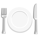 Fork and Knife with Plate on Google Android 12.0