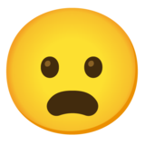 Frowning Face with Open Mouth on Google Android 12.0