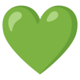 Green Heart on Google Android 12.0