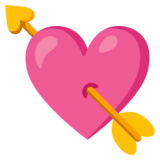 Heart with Arrow on Google Android 12.0