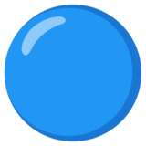 Blue Circle on Google Android 12.0