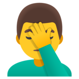Man Facepalming on Google Android 12.0