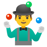 Man Juggling on Google Android 12.0