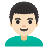 Man: Light Skin Tone, Curly Hair on Google Android 12.0