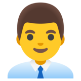 Man Office Worker on Google Android 12.0