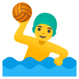 Man Playing Water Polo on Google Android 12.0