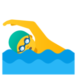Man Swimming on Google Android 12.0