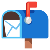 Open Mailbox with Raised Flag on Google Android 12.0