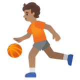 Person Bouncing Ball: Medium Skin Tone on Google Android 12.0