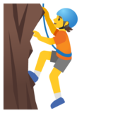 Person Climbing on Google Android 12.0