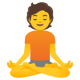 Person in Lotus Position on Google Android 12.0