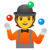 Person Juggling on Google Android 12.0