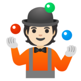 Person Juggling: Light Skin Tone on Google Android 12.0