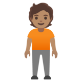 Person Standing: Medium Skin Tone on Google Android 12.0