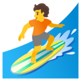 Person Surfing on Google Android 12.0