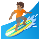 Person Surfing: Medium Skin Tone on Google Android 12.0