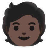 Person: Dark Skin Tone on Google Android 12.0