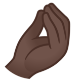 Pinched Fingers: Dark Skin Tone on Google Android 12.0