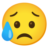 Sad but Relieved Face on Google Android 12.0