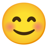 Smiling Face with Smiling Eyes on Google Android 12.0