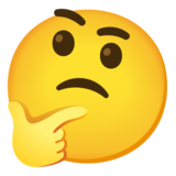 Thinking Face on Google Android 12.0