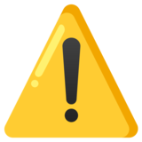 Warning on Google Android 12.0