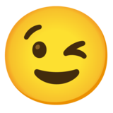 Winking Face on Google Android 12.0