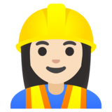 Woman Construction Worker: Light Skin Tone on Google Android 12.0