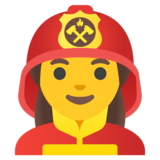 Woman Firefighter on Google Android 12.0