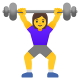 Woman Lifting Weights on Google Android 12.0