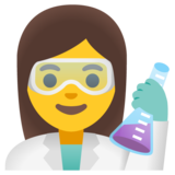 Woman Scientist on Google Android 12.0
