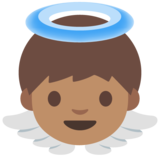 Baby Angel: Medium Skin Tone on Google Android 7.0