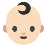 Baby: Light Skin Tone on Google Android 7.0