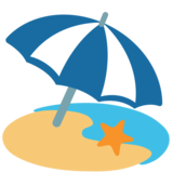 Beach With Umbrella on Google Android 7.0