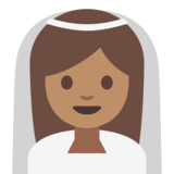 Person With Veil: Medium Skin Tone on Google Android 7.0