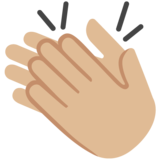 Clapping Hands: Medium-Light Skin Tone on Google Android 7.0