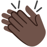 Clapping Hands: Dark Skin Tone on Google Android 7.0