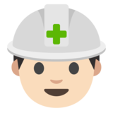 Construction Worker: Light Skin Tone on Google Android 7.0