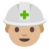 Construction Worker: Medium-Light Skin Tone on Google Android 7.0