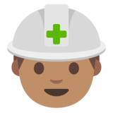 Construction Worker: Medium Skin Tone on Google Android 7.0