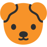 Dog Face on Google Android 7.0