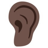Ear: Dark Skin Tone on Google Android 7.0