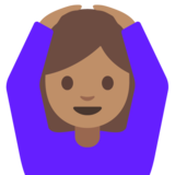 Person Gesturing OK: Medium Skin Tone on Google Android 7.0
